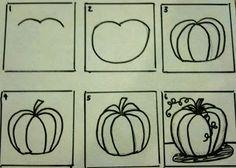 Sleepyhead Designs Studio: Drawing and Painting Pumpkins