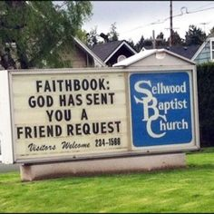 Funny church sign.