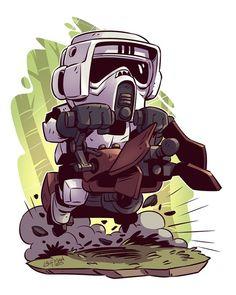 Scout Trooper | Star Wars | #starwars #starwarsart #starwarsfanart #chibi #endor #scouttrooper #stormtrooper