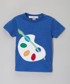Look what I found on #zulily! Royal Blue & White Palette Tee - Infant, Toddler & Boys by little bits #zulilyfinds