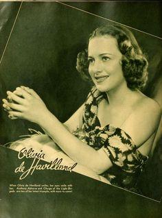 When Olivia de Havilland smiles, her eyes smile with her.