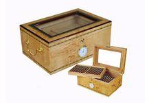 Big Capacity Burl Wood Humidor