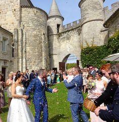 Magical confetti moment! Chateau de Lisse, SW France with www.acelebrantinfrance.com Celebrity Weddings, Pisa, Confetti, France, In This Moment, Celebrities, Travel, Celebs, Voyage