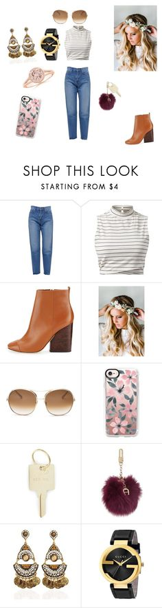 """Sans titre #159"" by lilapanda ❤ liked on Polyvore featuring Yves Saint Laurent, Tory Burch, Emily Rose Flower Crowns, Chloé, Casetify, The Giving Keys, Etienne Aigner and Gucci"