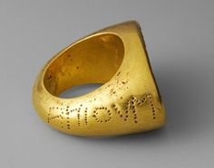 Etruscan Gold Ring, late 4th or early 3rd century b.c.; Late Classical or Hellenistic