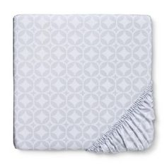 Circo® Woven Grey Foggy Day Fitted Crib Sheet