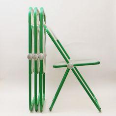 Located using retrostart.com > Green Plia Dinner Chair by Giancarlo Piretti for Castelli