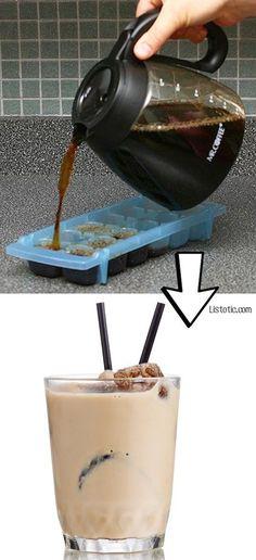 Wie aus Resten Zutaten werden - Kaffee Eiswürfel zum Beispiel und noch mehr…
