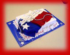 cakesbyashley-Texas Flag Cake
