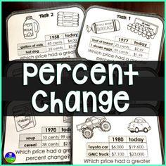 7th Grade Math, Math Class, Consumer Math, Percents, Financial Literacy, Task Cards, Teaching Math, Math Activities, Students