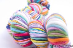 Just a Rainbow HandSpun and Hand Painted Organic by SpinSpanSpun, $80.00