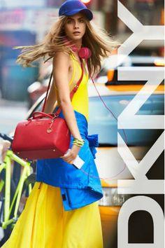 Cara Delevigne para DKNY, Primavera - Verano 2013 / Cara Delevigne for DKNY, Spring - Summer 2013