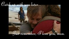 Charlie saying goodbye to Hurley when he knows he'll never see him again :'( #meh #LOST