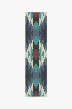 Mariposa Blue Rug | Washable Rug | Ruggable Teal Rug, Yellow Rug, Machine Washable Rugs, Dark Grey Rug, Natural Rug, Rug Runner, Colorful Rugs, Diamond Shapes