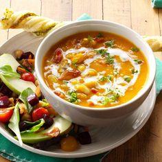 Exps171577 Th132767a05 01 2b Web 2 Freezable Soups, Freezer Soups, Soup Recipes, Cooking Recipes, Keto Recipes, Sausage And Kale Soup, White Bean Soup, Veggie Soup