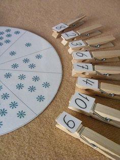 Zahlenkreis The Snowy Day – math: snowflake counting. Zahlenkreis The Snowy Day – math: snowflake counting. Montessori Math, Montessori Materials, Kindergarten Math, Preschool Activities, Dinosaur Activities, Teaching Numbers, Math Numbers, Teaching Math, Teaching Geography