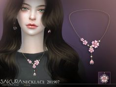sims 4 cc // custom content accessories // The Sims Resource // // S-Club LL Necklace 201907 Sims 4 Cc Skin, Sims Cc, Leaf Jewelry, Jewelry Sets, Jewelry Necklaces, Jewellery, Los Sims 4 Mods, Sims 4 Piercings, Sims Packs