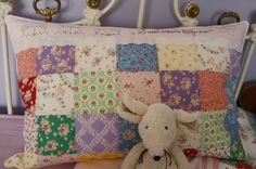 pillow (Lecien flower fabrics) by Himiko from Amy's pattern.
