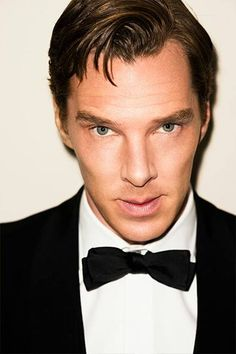 Ben With Dark Brown Hair and Hazel Eyes Wearing Black Tux and Bow Tie With White Shirt