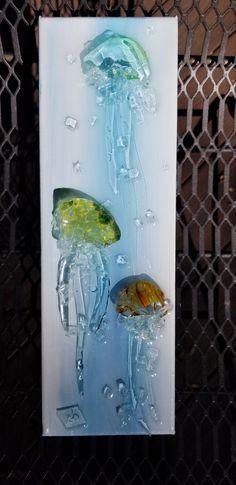 Broken Glass Art, Sea Glass Art, Fused Glass, Nautical Theme, Wind Chimes, Art Ideas, Recycling, Beach, Outdoor Decor