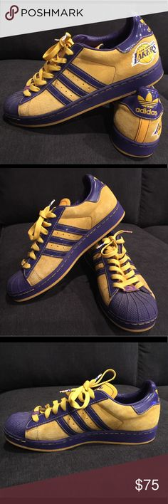 Adidas Los Angeles Lakers NBA man's size 9 Yellow and purple Lakers color adidas. Used and in perfect condition. adidas Shoes Sneakers