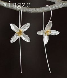 New style high quality 925 sterling silver handmade earrings Lilac flower long earrings for women fine jewelry wholesale -- Check out the image by visiting the link.