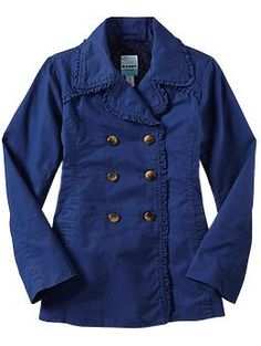 Girls Ruffled Trench Coats | Old Navy
