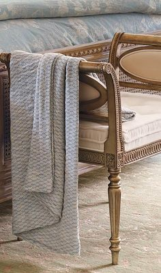 Our Josephine Bench is a finely styled seat that provides an inviting place to sit, whether at a window, in a dressing room, or at the end of a bed.
