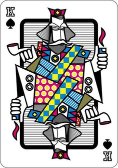 playing cards by Hani Mahfouz, via Behance