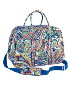 64e20d91ae5 Love this Marina Paisley Grand Traveler Weekender on  zulily!  zulilyfinds Vera  Bradley Travel