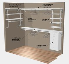 Walk-In Closet Ideas | closet design plan 92 x 56 walk in closet click illustration to ...