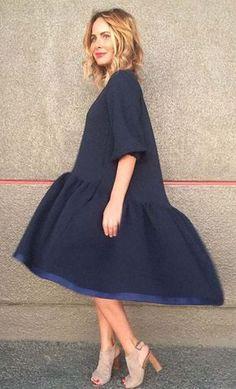 Как кроить и сшить платье «трапеция с оборкой и перепадом» . Обсуждение на LiveInternet - Российский Сервис Онлайн-Дневников