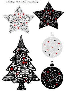 Silhouette plotter file free, Plotter Datei kostenlos, plotter freebie, Weihnachten, Christmas, Doodles