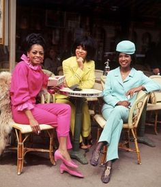 The Supremes in Paris, 1965.