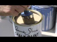 Annie Sloan krijtverf aanbrengen door Jayne van The Shabby Shed de Annie Sloan krijtverf specialist