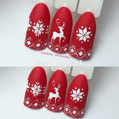 Here is a tutorial for an interesting Christmas nail art Silver glitter on a white background – a very elegant idea to welcome Christmas with style Decoration in a light garland for your Christmas nails Materials and tools needed: base… Continue Reading → Cute Christmas Nails, Christmas Manicure, Christmas Nail Art Designs, Holiday Nail Art, Xmas Nails, Winter Nail Art, Winter Nails, Christmas Christmas, Nail Noel