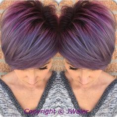 """Perfect purple hair color and crop cut by Jamie Waier pixie cut <a class=""""pintag searchlink"""" data-query=""""%23hotonbeauty"""" data-type=""""hashtag"""" href=""""/search/?q=%23hotonbeauty&rs=hashtag"""" rel=""""nofollow"""" title=""""#hotonbeauty search Pinterest"""">#hotonbeauty</a> Facebook.com/hotbeautymagazine"""