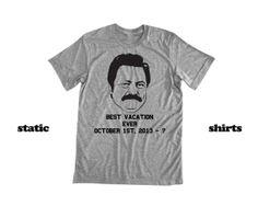 Ron Swanson Shirt | Parks and Rec #parksandrec #ronswanson www.etsy.com/listing/165262293/ron-swanson-shirt-parks-and-rec