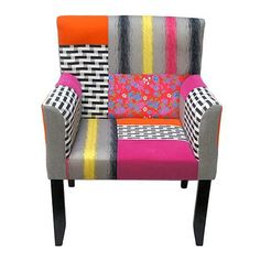 Patchworthy Linen Arm Chair