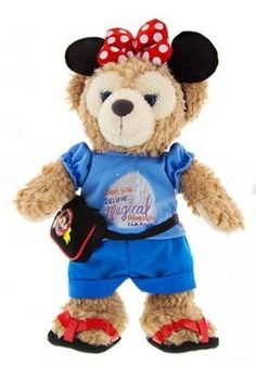 "New 2015 12"" Day in the Park SHELLIE MAY Duffy the Disney Bear Plush Pin Trading"