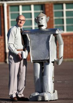 Tony Sale with George the robot.