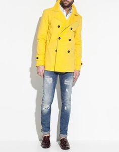 Yellow trench coat - love it!