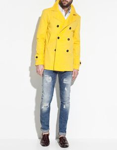 Yellow trench coat - love it!