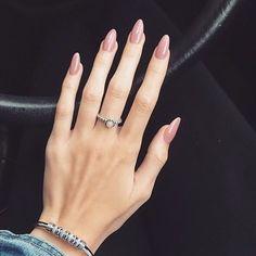 Pink rose pretty nail art design #nails #nailpolish