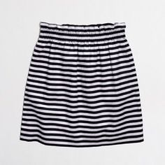 J. Crew Stripe City Mini Skirt Elastic waist.  Fully lined.  In excellent condition. J. Crew Skirts Mini