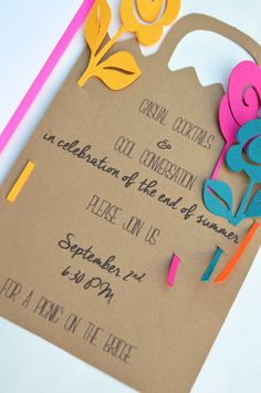 DIY End of Summer Picnic Party Invitation
