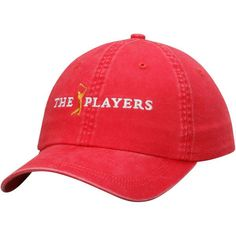 THE PLAYERS Women's Solid Peach Twill Adjustable Hat - Red - $24.99