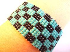 woven beaded bracelet loom bracelet in by VazJewelryOriginals