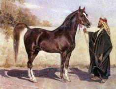 Y.Kosak (1824-1899). Bedouin with the Arab stallion