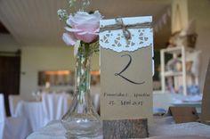 Tischzahlen Zahlen Vintage Hochzeit von Majalino auf DaWanda.com